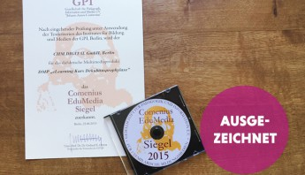 Comenius-EduMedia-Siegel 2015 für unser E-Learning Projekt Dekubitusprophylaxe